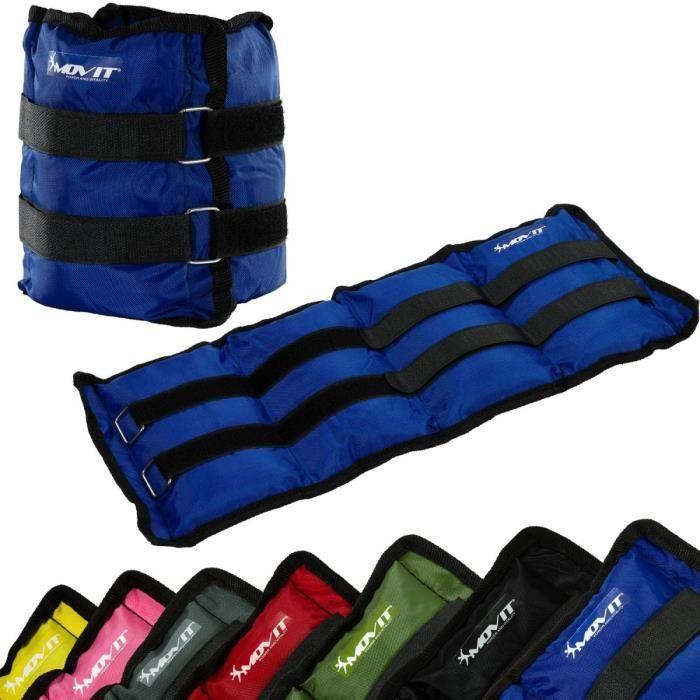 MOVIT Poids de cheville et de poignet bleu 8 kg (2 x 4 kg) - 1 paire