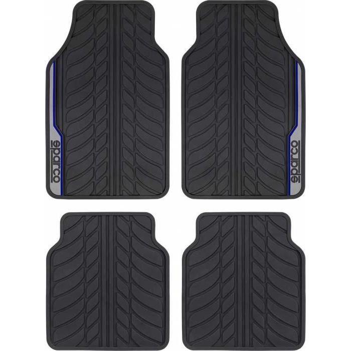 Tapis PVC bande bleu SPARCO (x4)