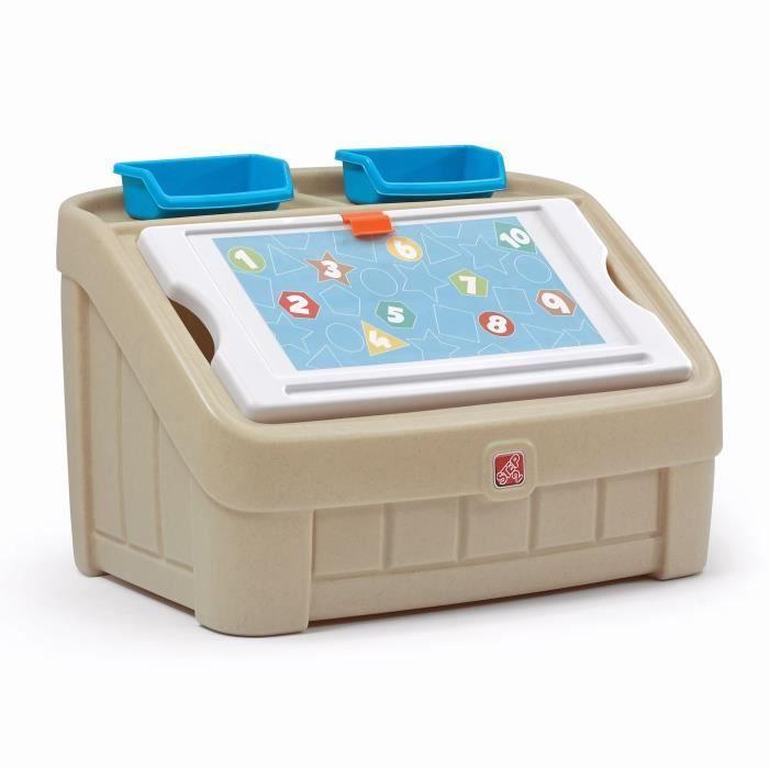 STEP2 Coffret à jouet et table à dessiner - Beige