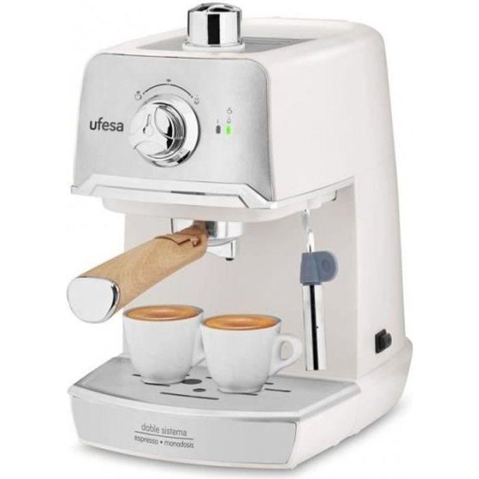 Ufesa CE7238 CREAM – Machine à Expresso, pour Prépare Cappuccino et Infusions, Pompe à Pression 20 bars, Système Traditionnel de