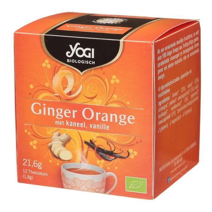 Infusion gingembre orange 21,6 g YOGI