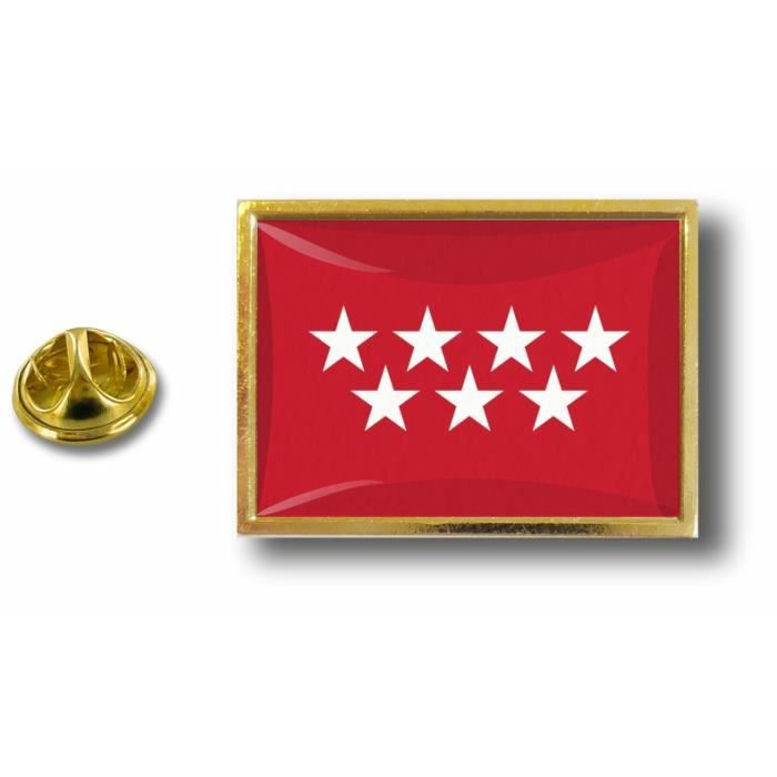 pins pin badge pin/'s metal  avec pince papillon drapeau madrid espagne
