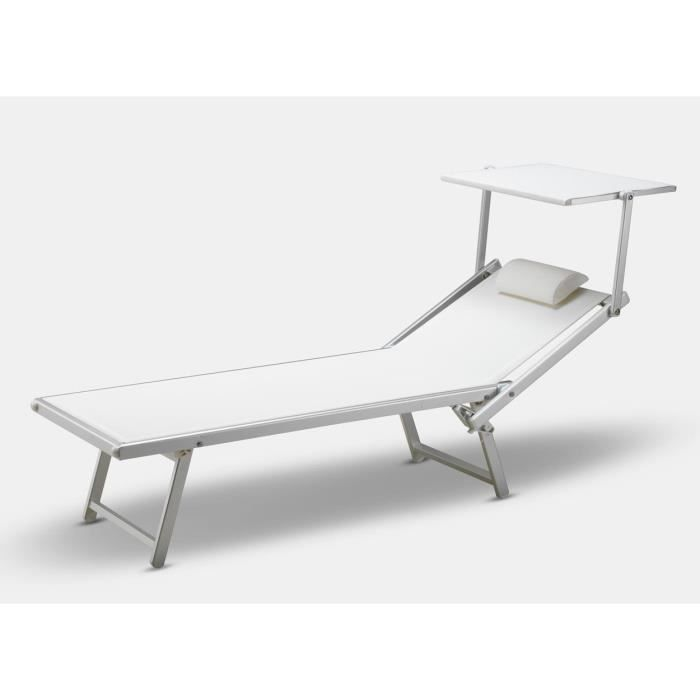 bain de soleil professionnel lit de plage chaise longue piscine aluminium italia achat vente. Black Bedroom Furniture Sets. Home Design Ideas