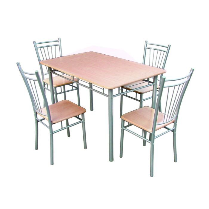 Robin ensemble table 4 chaises d cor h tre achat for Ensemble table chaise cuisine