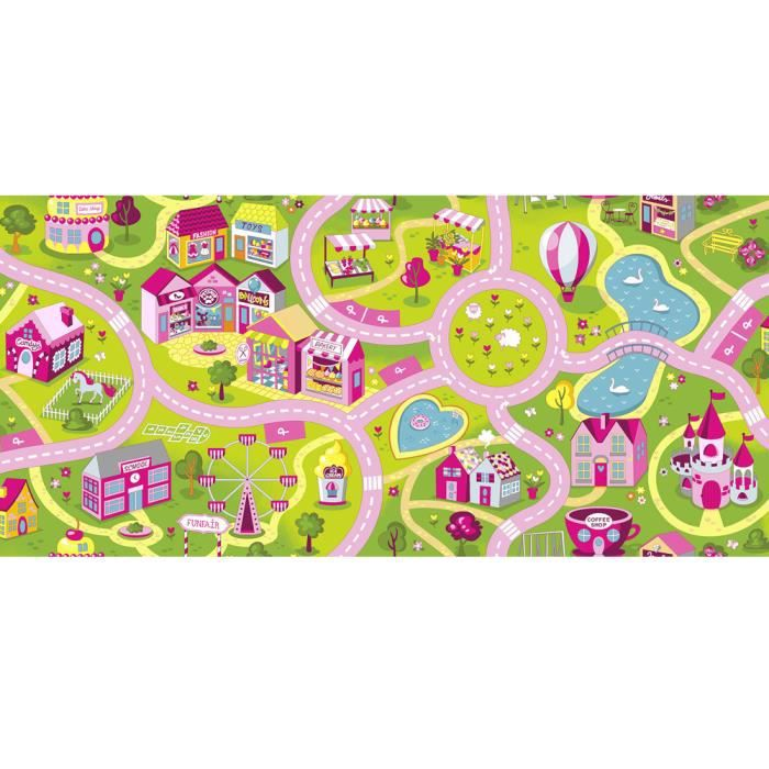 tapis circuit fille sweet town candy tapis 95 x 200 cm. Black Bedroom Furniture Sets. Home Design Ideas