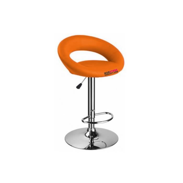 tabouret de bar rio couleur orange achat vente. Black Bedroom Furniture Sets. Home Design Ideas