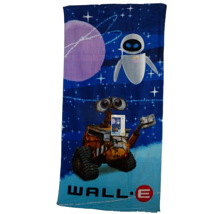 serviette de bain wall e grand drap de plage wall e et eve pour enfants filles ou gar ons mixte. Black Bedroom Furniture Sets. Home Design Ideas