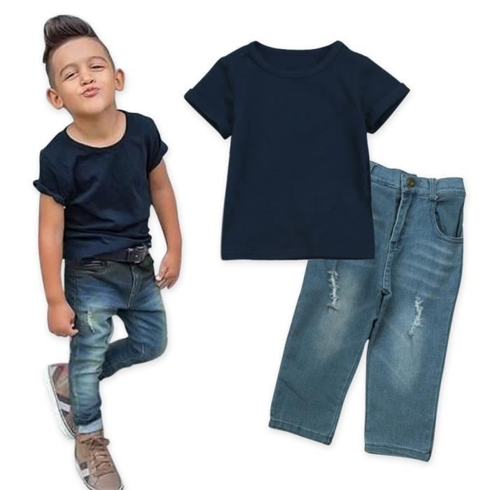 Pantalons longs vêtements Gentleman Tenues Ensemble 2pcs Bébé Garçon Enfants Shirt Hauts