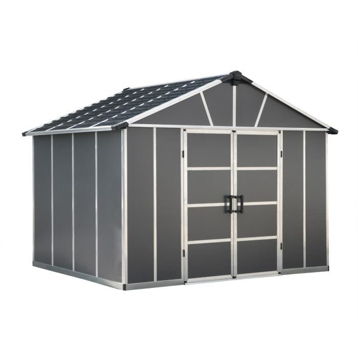 Palram Abri De Jardin Yukon 7 9 M Aluminium Et Polycarbonate Gris Achat Vente Abri Jardin Chalet Abri De Jardin Yukon 7 9 M Cdiscount