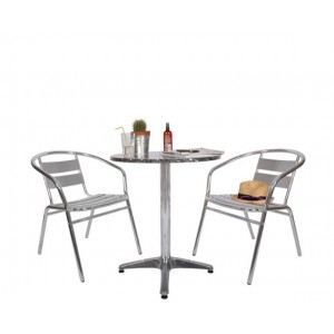 ensemble de jardin bistrot table 60 x 72cm ch achat. Black Bedroom Furniture Sets. Home Design Ideas