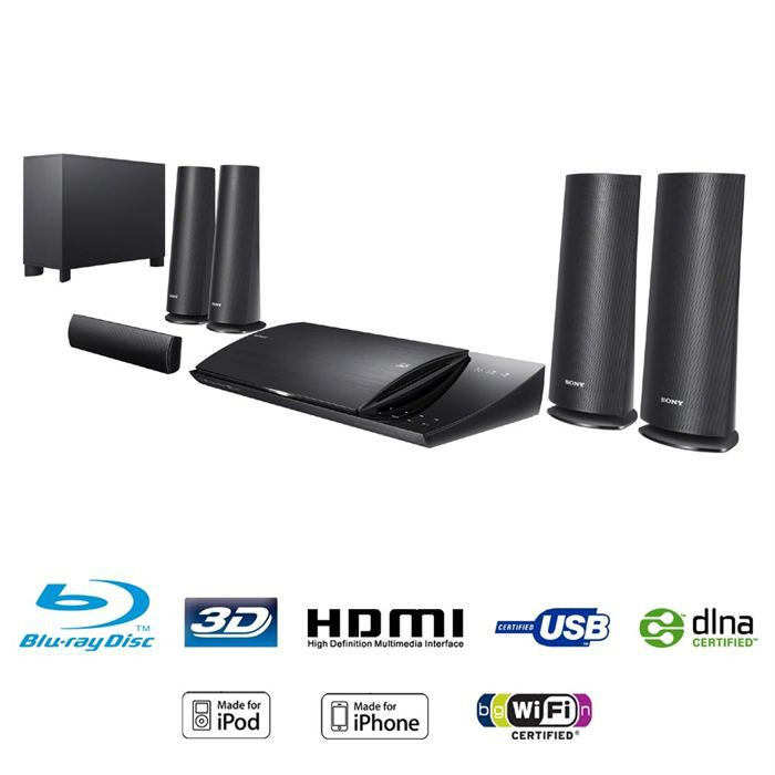 sony bdv n590 home cin ma 5 1 blu ray 3d docking ensemble home cin ma avis et prix pas cher. Black Bedroom Furniture Sets. Home Design Ideas