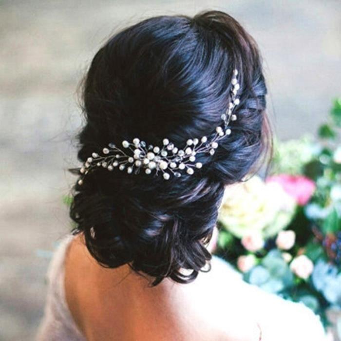Crème Plume Perle Cheveux Fleur Plume sur Pince à Cheveux Broche Pin Mariages Courses