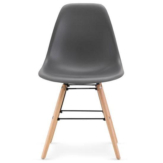 Lot Lisa 4 scandinaves de chaises Gris rCthxdsQ
