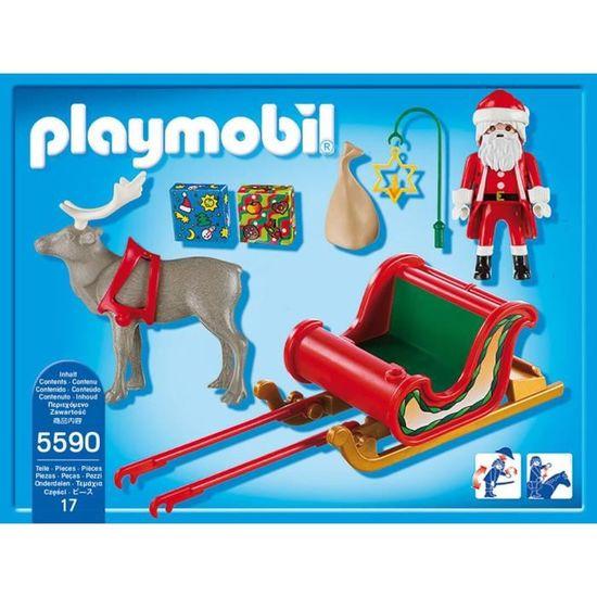 Traineau Pere Noel Playmobil PLAYMOBIL   5590   Père Noël avec Traîneau   Achat / Vente univers