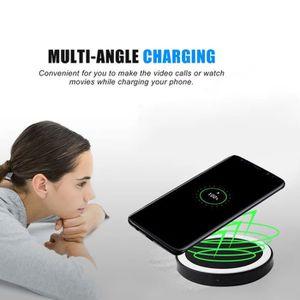 CHARGEUR TÉLÉPHONE Chargeur d'alimentation sans fil QI pour Samsung G