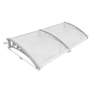 MARQUISE - AUVENT Auvent de porte marquise d'accueil aluminium 80X24