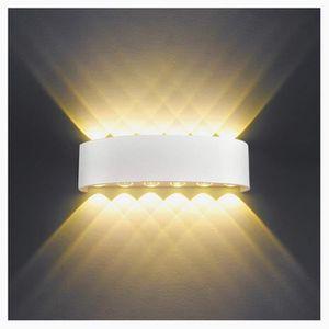 APPLIQUE  Applique Murale Interieur LED 12W Blanc Lampe Mura