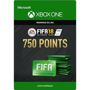 EXTENSION - CODE FIFA 18 Ultimate Team: 750 Points pour Xbox One