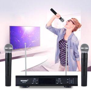 HAUT-PARLEUR - MICRO Système de microphone sans fil VHF Transmetteur Mi