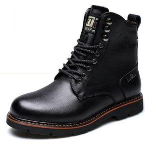 BOTTE Martin bottes chaussure hiver cuir véritable homme