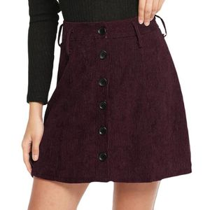JUPE Femmes Jupe Taille Haute Bouton De Mode Filles Sex