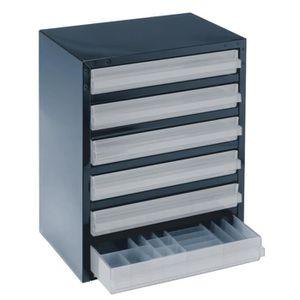 ETABLI - MEUBLE ATELIER Casier de rangement 250-6-3 à 6 tiroirs Raaco 1375