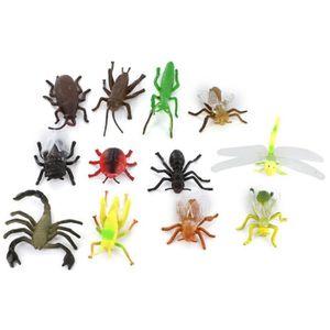 10pcs Modèle Insecte Vif Plastique Simulées Statique Animal Jouet Enfant