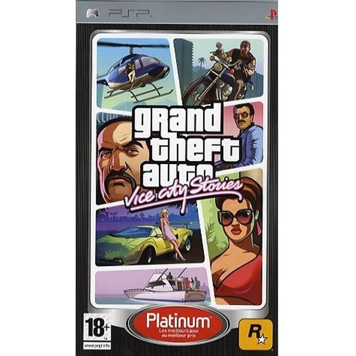 JEU PSP GTA VICE CITY STORIES PLATINUM / JEU CONSOLE PSP