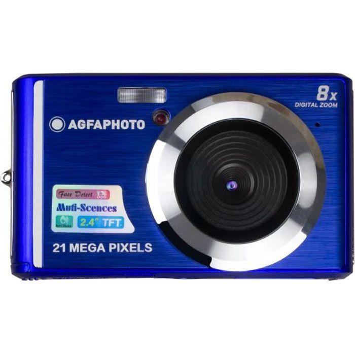 AGFA PHOTO Realishot DC5200 - Appareil Photo Numérique Compact (21 MP, 2.4'' LCD, Zoom Digital 8x, Batterie Lithium) Bleu