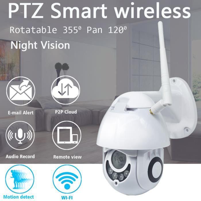 KIT CAMERA DE SURVEILLANCE - PACK VIDEOSURVEILLANCE - 1080P sans fil WIFI IP Camera Vision nocturne extérieure Sécurité à domicile