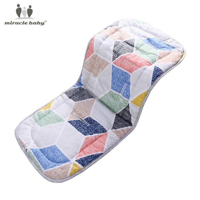 Coussin pour poussette 3D coussin en coton Utilisation double face 36*80cm - Coussin poussette pour Bébé - Polygone de poudre