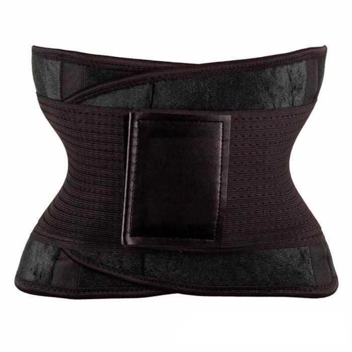 Femmes taille Cincher tondeuse Corset Shaper ventre minceur ceinture ventre perte de poids Sport c - Modèle: Black S - HSJSZHA09703