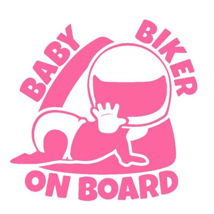 autocollants de voiture en vinyle en Fiber de carbone de 1514.5cm pour bébé motard à bord, autocollants amusants 3D JDM [30144AD]