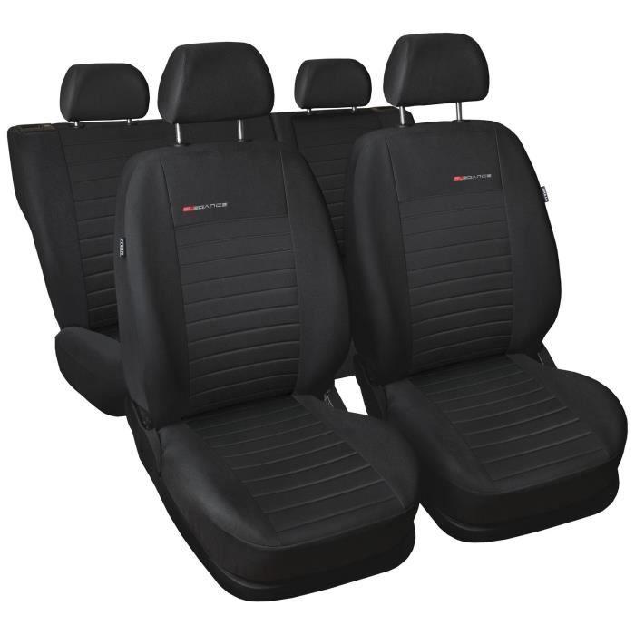 Housse De Siège Voiture Auto pour Suzuki Sx4 Elegance P4 Noir tissu de revetement/velours avec mousse set complet