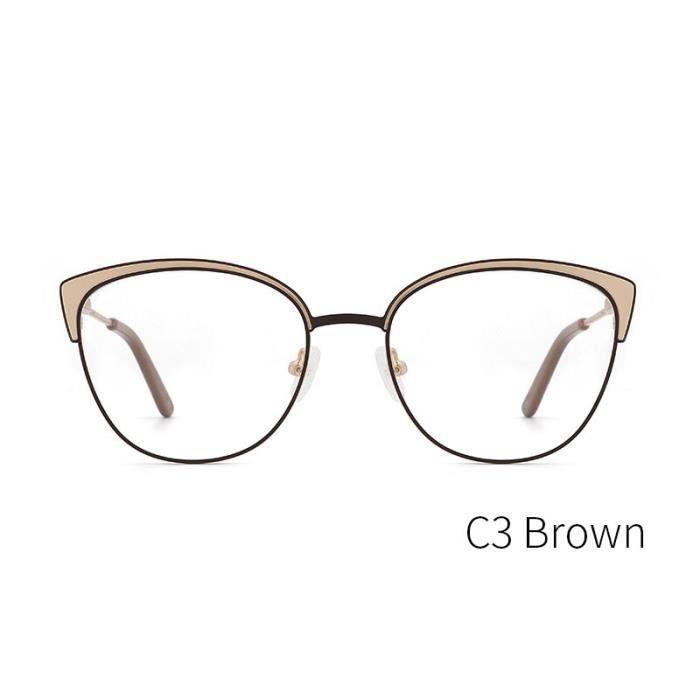 Montures de Lunettes de vue,KANSEPT lunettes avec monture en métal Lunettes de vue femmes, monture de lunettes - Type KL8388C3