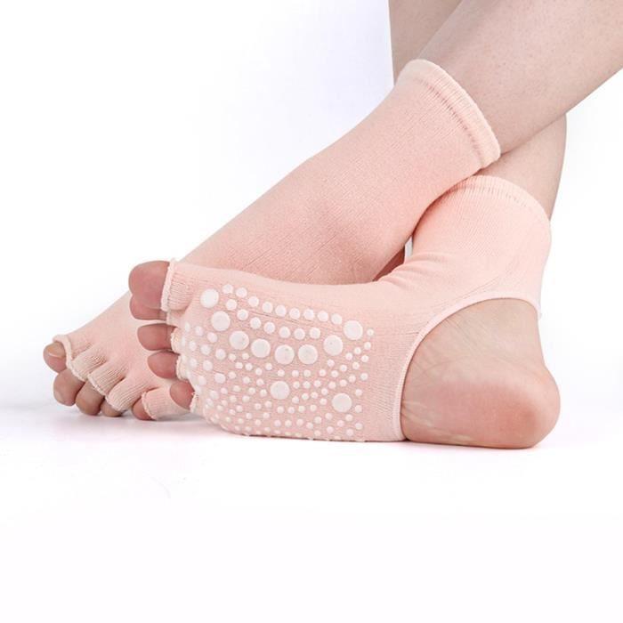 Accessoires Fitness - Musculation,Femmes Yoga chaussettes coton anti dérapant danse Pilates Grip - Light Skin Color-Women code #A