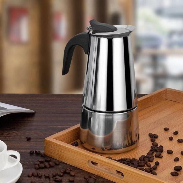 Behogar 100ml-200ml-300ml-450ml expresso machine à café en acier inoxydable Moka Pot pour cuisinières gaz électrique céramique