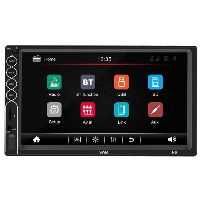 SWM N6 2 DIN voiture stéréo vidéo MP5 lecteur 2din 7 pouces écran tactile Bluetooth USB AUX FM autoradio caméra de - standard #B