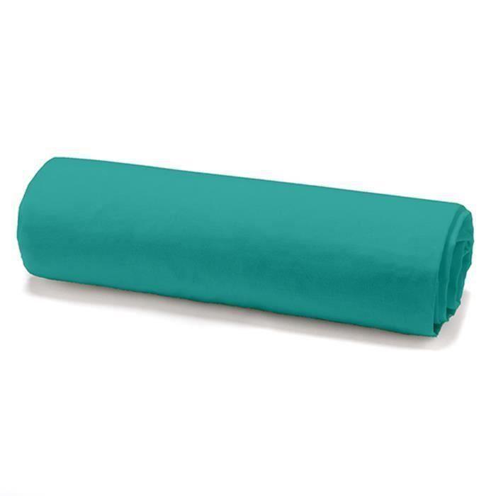 TODAY Drap housse 100% coton - 160 x 200 cm - Vert diabolo menthe