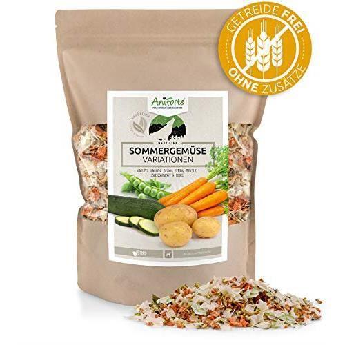 AniForte Poudre de b.a.r.f. Line NO3 légumes d'été Variations 1 kg sans Gluten pour Vos Propres Doublure Mélanges Chien Flocons de