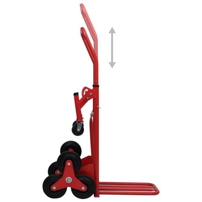 Super Chariot à plateforme pliable - Chariot de Jardin Chariot à main monte-escalier 51x74x120 cm 150 kg @758109