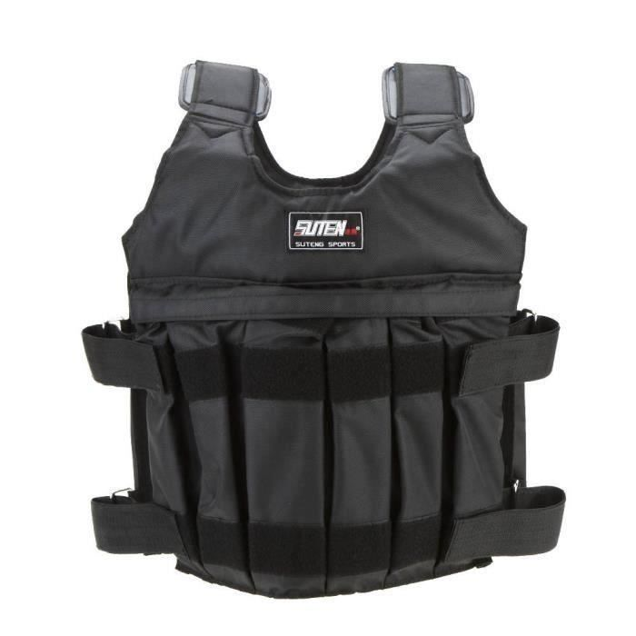 SUTEN Max 50 kg de chargement Poids ajustable Weighted Vest Blouson Gilet d'exercice boxe entrainement Invisible Weightloading sa...