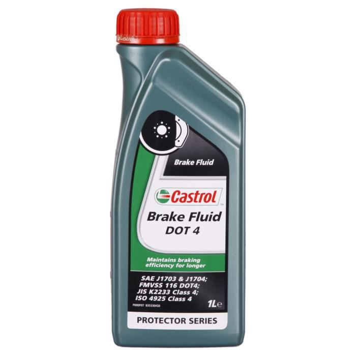 Liquide de frein Castrol Brake Fluid DOT 4 1 Litres Boîte