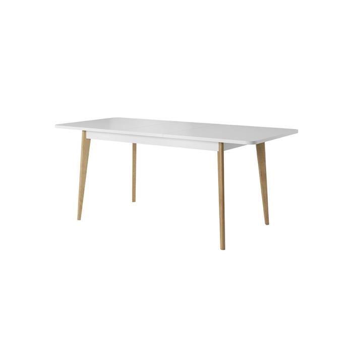 Table NORDY de 140 cm - blanc