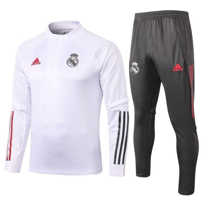 Survêtement Foot Homme Real Madrid,Maillot Foot Enfants Garçon Homme 2021 Survêtement Foot Maillot de Foot,Haut et Pantalon