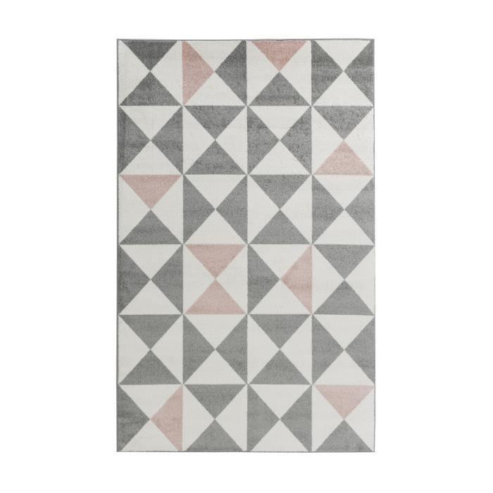 FORSA Tapis de salon en polypropylène - 200 x 280 cm - Rose