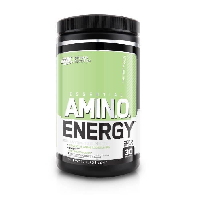 OPTIMUM NUTRITION Pot Amino Energy Mojito Citron vert / Menthe - 270 gr