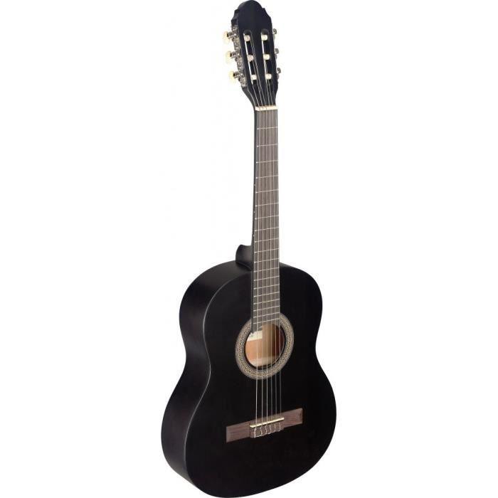 STAGG C430 M BLK Guitare Classique 6-10 Ans - Noir