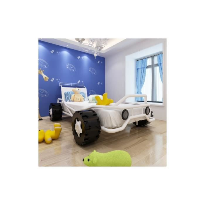 lit enfant forme voiture de course achat vente structure de lit cdiscount. Black Bedroom Furniture Sets. Home Design Ideas
