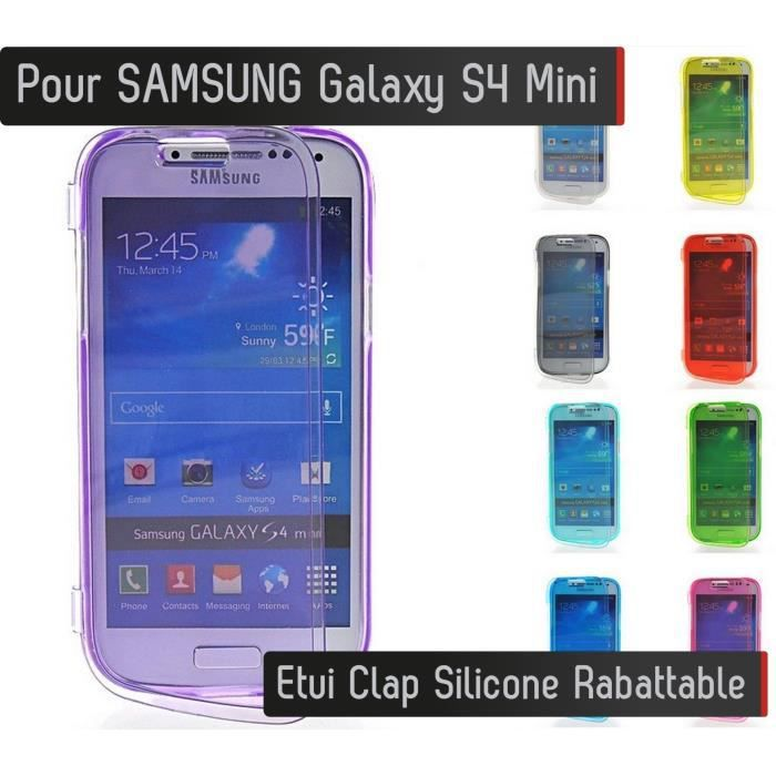 coque silicone clap samsung galaxy s4 mini jaune etui. Black Bedroom Furniture Sets. Home Design Ideas
